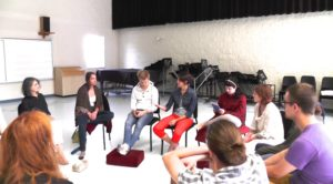 Discussion group at summer program